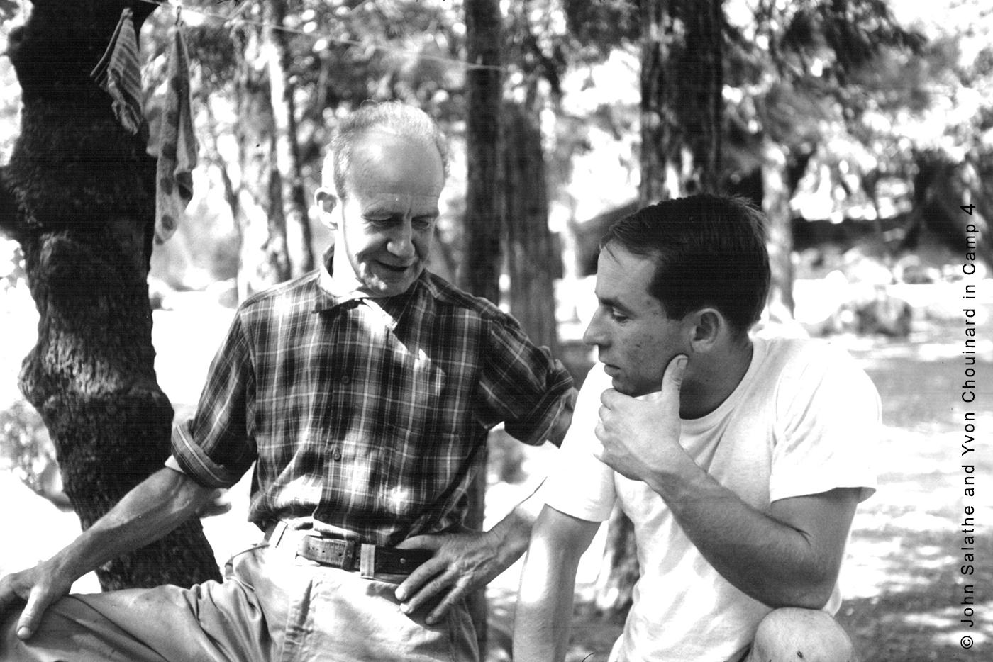 John Salathe and Yvon Chouinard in Camp 4